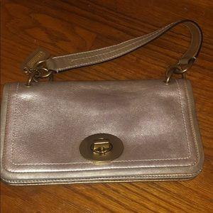 Authentic Gold Coach Handbag